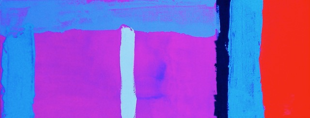 Blue-Violet / 7.87 x 19.68 in (20 x 50 cm) Private Collection of Silvana Solivella (Switzerland)
