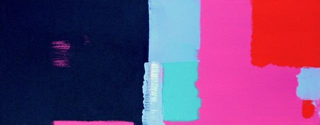 Pink- Black / 7.87 x 19.68 in (20 x 50 cm) Private Collection of Fidalma D'Amico (Mexico)