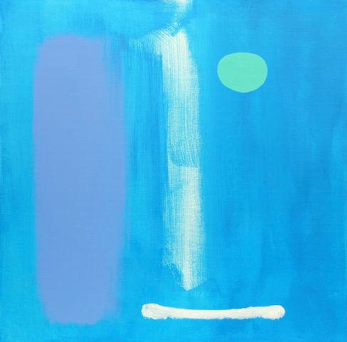 Rêve Bleu / 15.74 x 15.74 in (40 x 40 cm) Private Collection of Claude-Alain Anker (Switzerland)