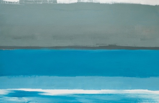 Nocturne Sea / 13.77 x 23.62 in (35 x 60 cm) Private Collection of Architect Raul Peña (Mexico)